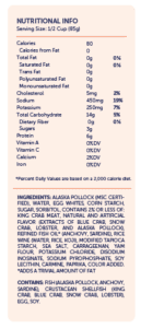 trans-ocean nutrition info flake