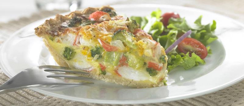 Crab Classic & Broccoli Quiche - Trans-Ocean Products