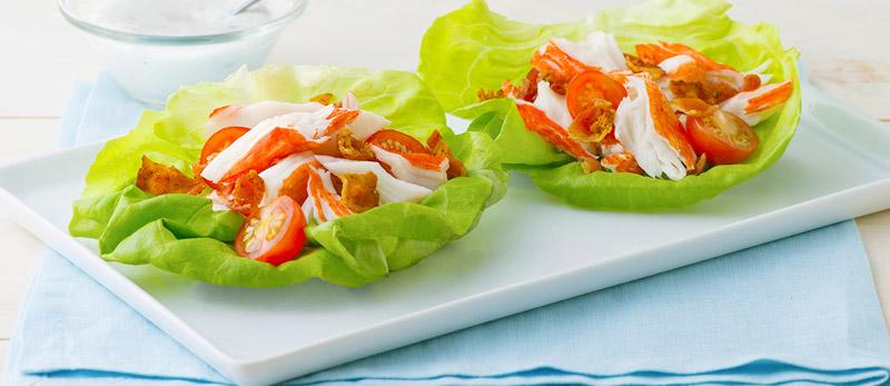 Crab Classic BLT Lettuce Cups