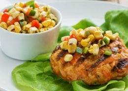 BBQ Crab Cakes with Corn Salsa