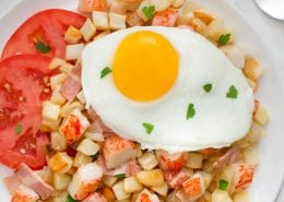 Crab Classic and Turkey Bacon Breakfast Fry Up