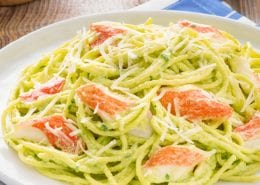 Creamy Avocado and Crab Classic Pasta