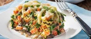 Creamy Crab & Mushroom Lasagna