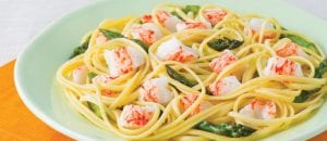 Garlic Butter Linguine with Crab Classic
