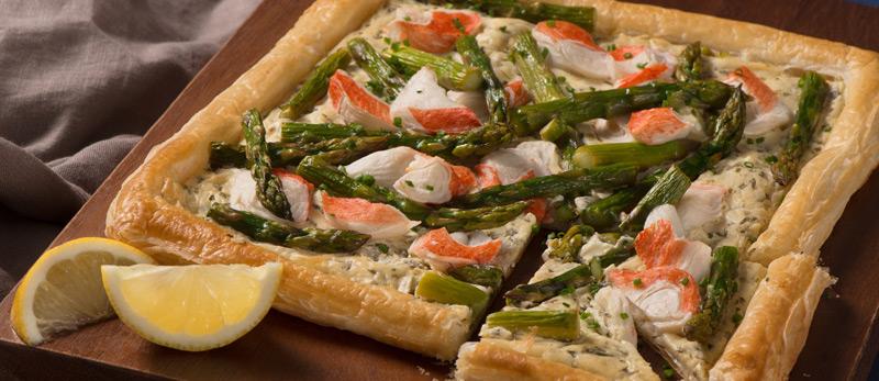 Crab-Classic-&-Asparagus-Tart-