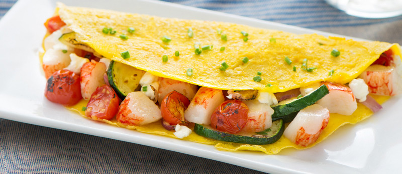 Crab-Classic-and-Roasted-Vegetables-Omelet