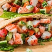Greek-Crab-Classic-Pita-Sandwich