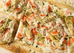 Ricotta, Crab Classic & Artichoke Flatbread
