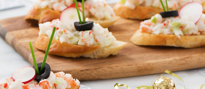 Crab classic canap s trans ocean products for Where to buy canape cups