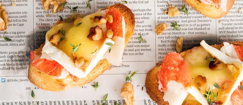 Crab-Walnut-and-Brie-Crostini