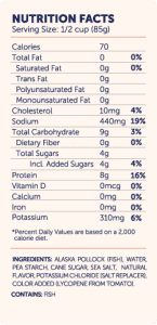 TO Simply Surimi FlakeStyle nutri-facts